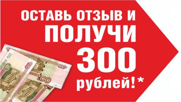 Read more about the article Зарабатываем 300 рублей за отзыв
