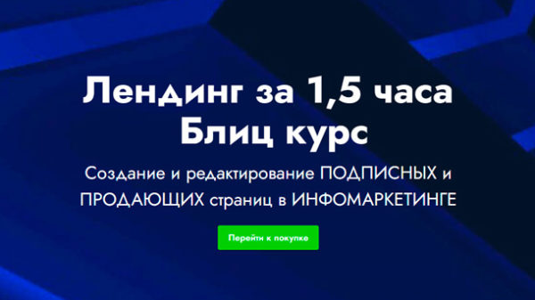 Read more about the article Лендинг за 1,5 часа